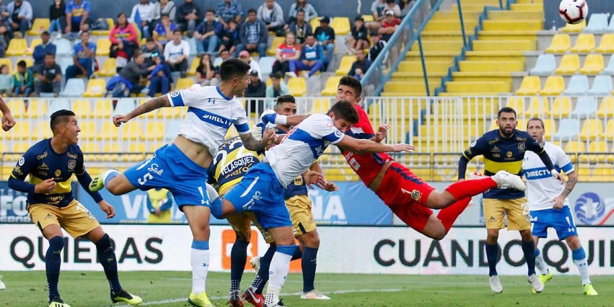 Gustavo Quinteros se estrenó en la UC con un empate ante Everton y el debut goleador de Valber Huerta
