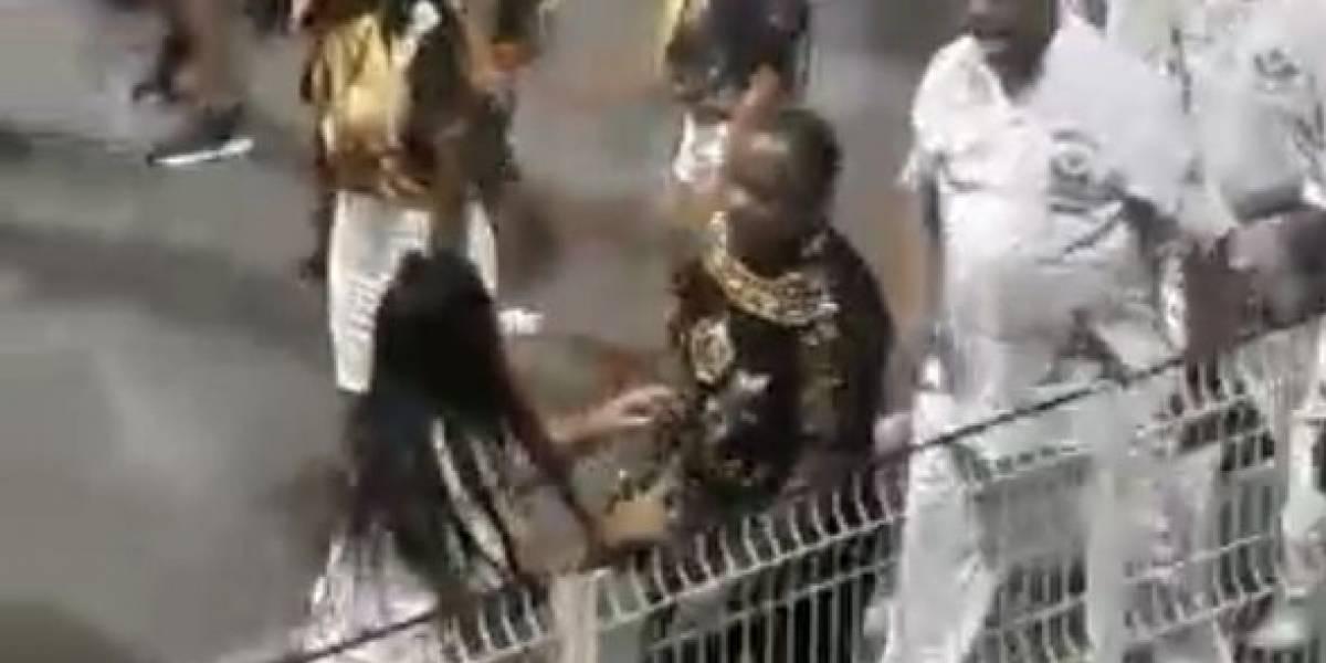 VÍDEO: Membro da diretoria da Vai-Vai agride mulher durante ensaio no Anhembi