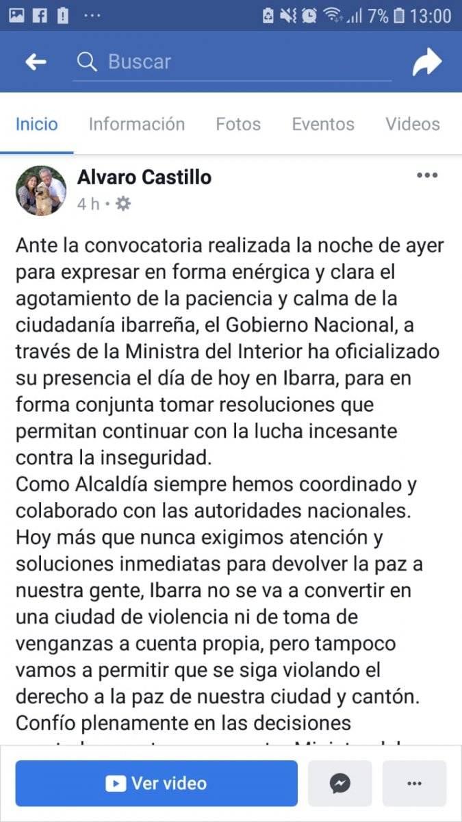 Alcaldía de Ibarra convoca a marcha por el femicidio de Diana Carolina