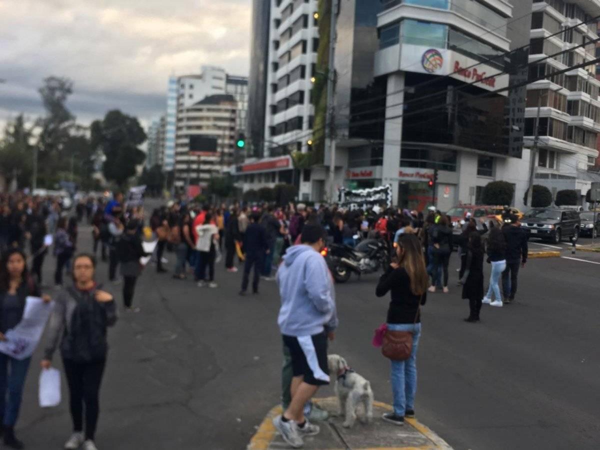 Marcha reclama a policías por femicidio de Diana Metro Ecuador