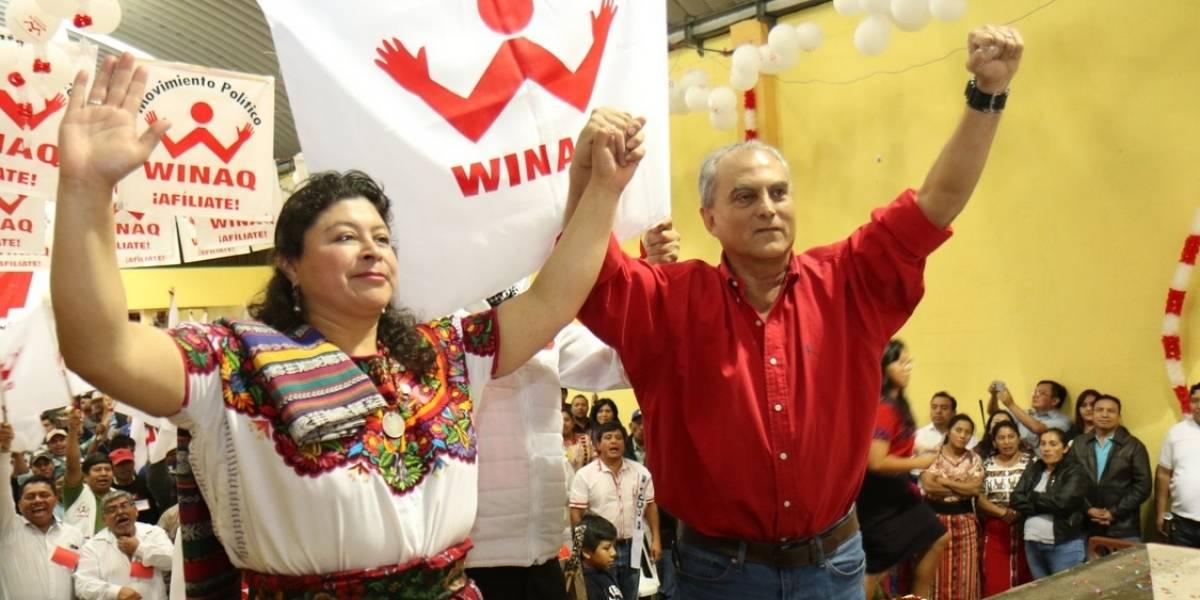 Partido Winaq proclama a su binomio presidencial para 2019