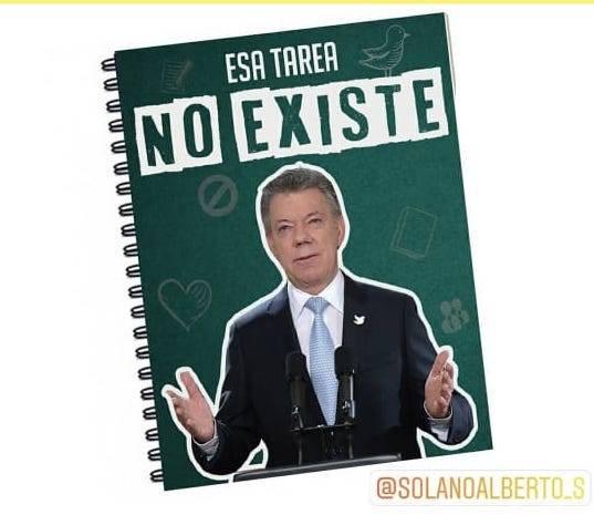 A partir de memes joven decidió empezar a vender sus propios cuadernos de políticos colombianos por Instagram