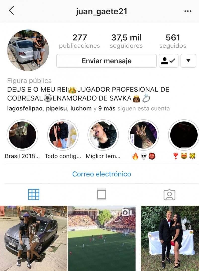 Juan Carlos Gaete da a conocer que es futbolista profesional de Cobresal. / Instagram Juan Gaete