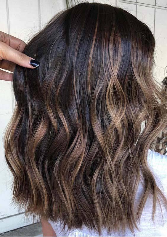 Mechas para cabello castaño oscuro