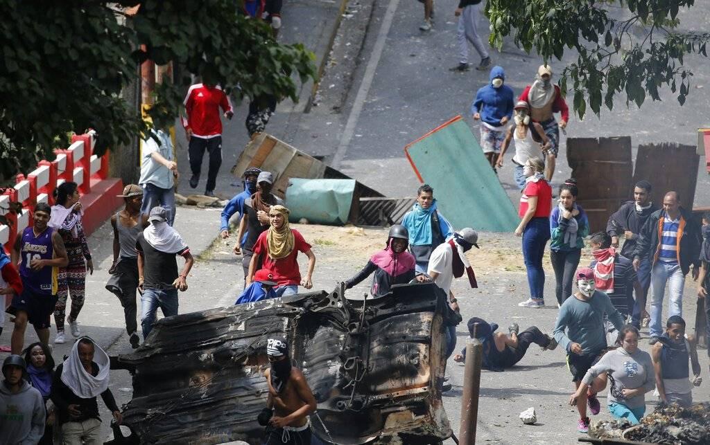 manifestantes venezuela. AP