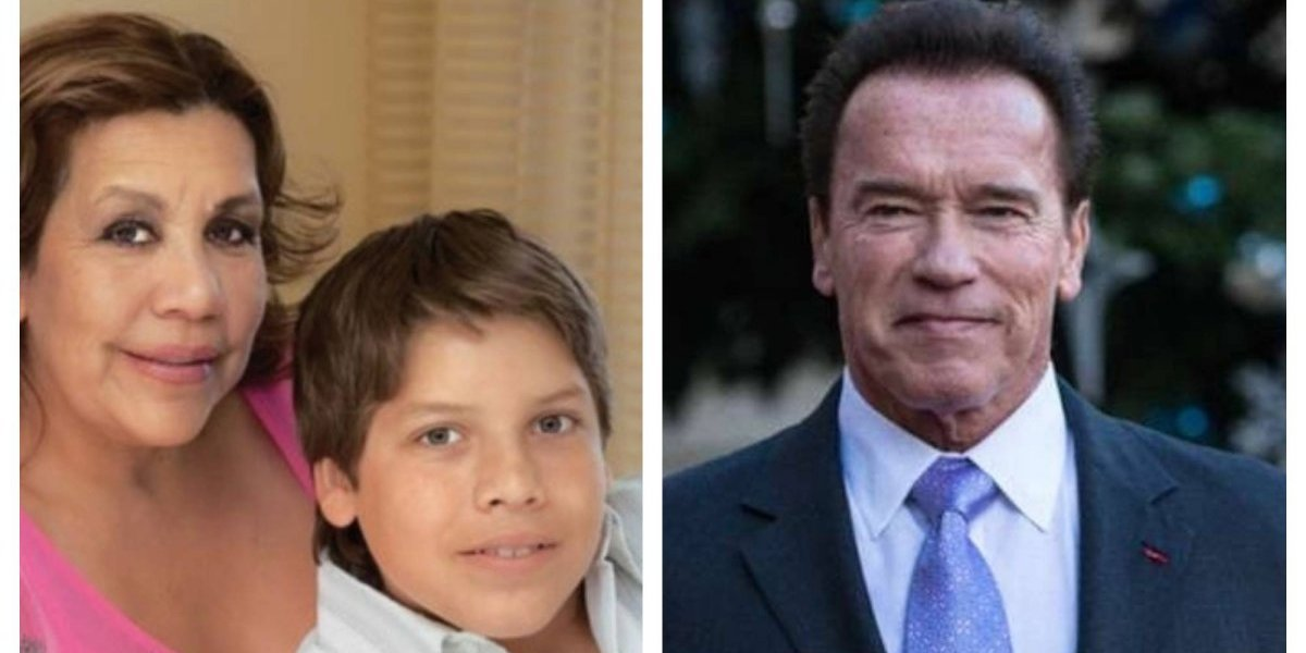 Hijo de Schwarzenegger con una guatemalteca busca ser igual que él y esta foto lo prueba