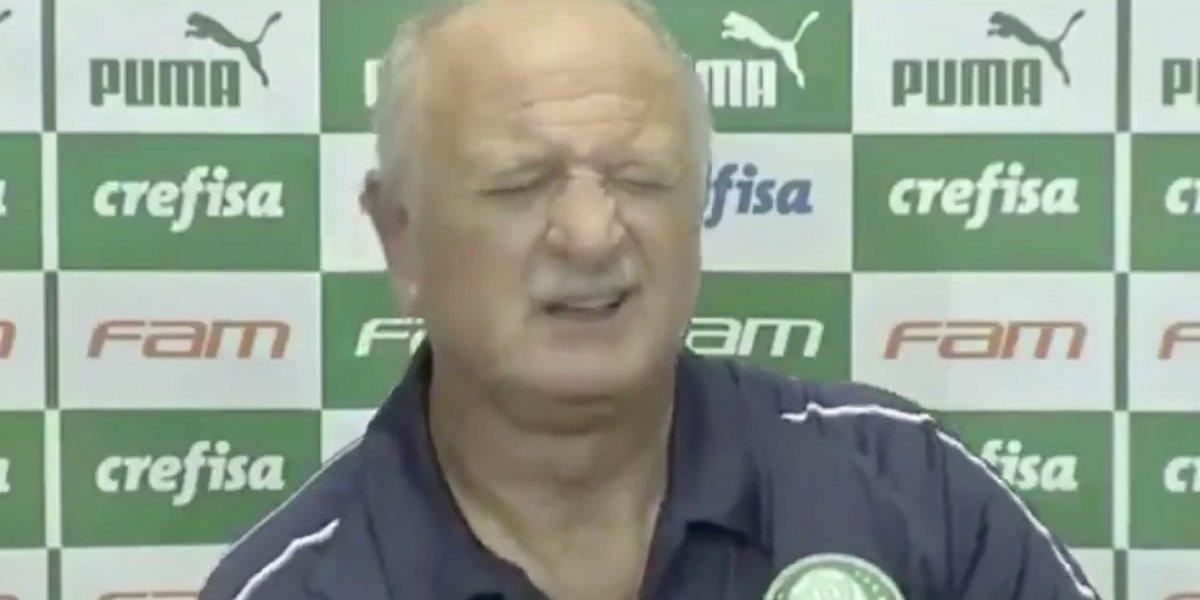 Un repentino cólico imposibilitó a Luiz Felipe Scolari de seguir en una conferencia de prensa