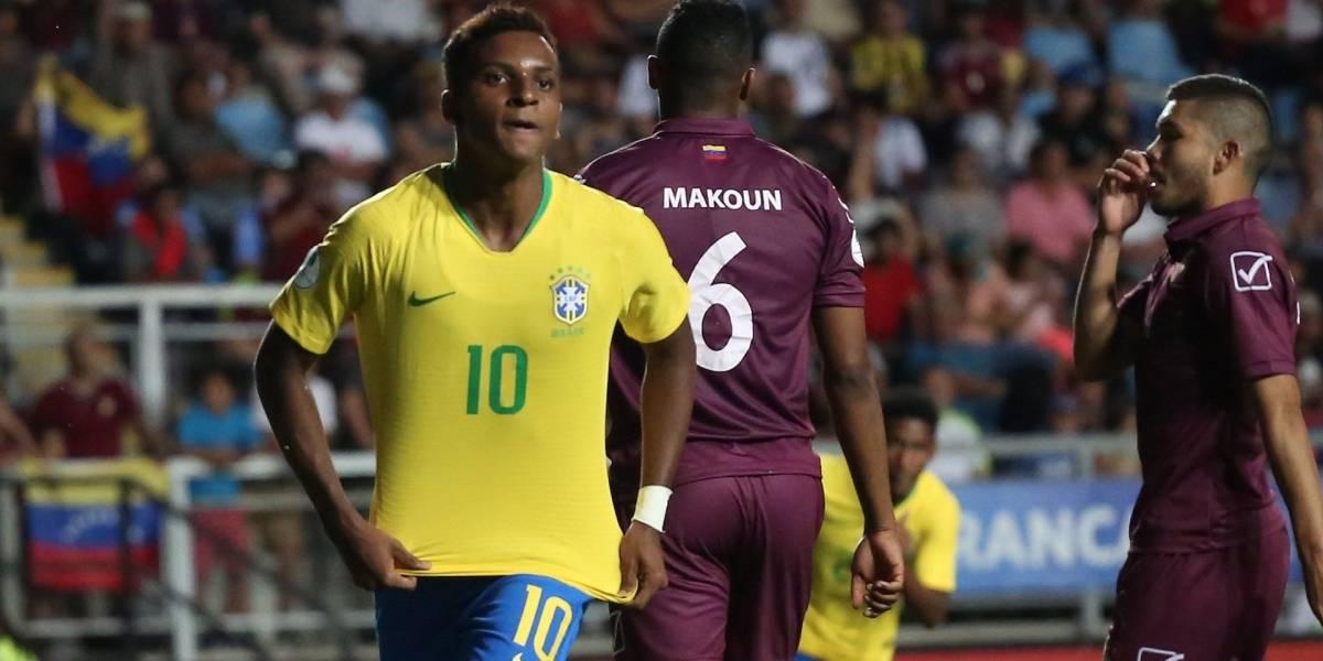 Brasil se impuso sobre una aguerrida, Venezuela en el Sudamericano Sub-20