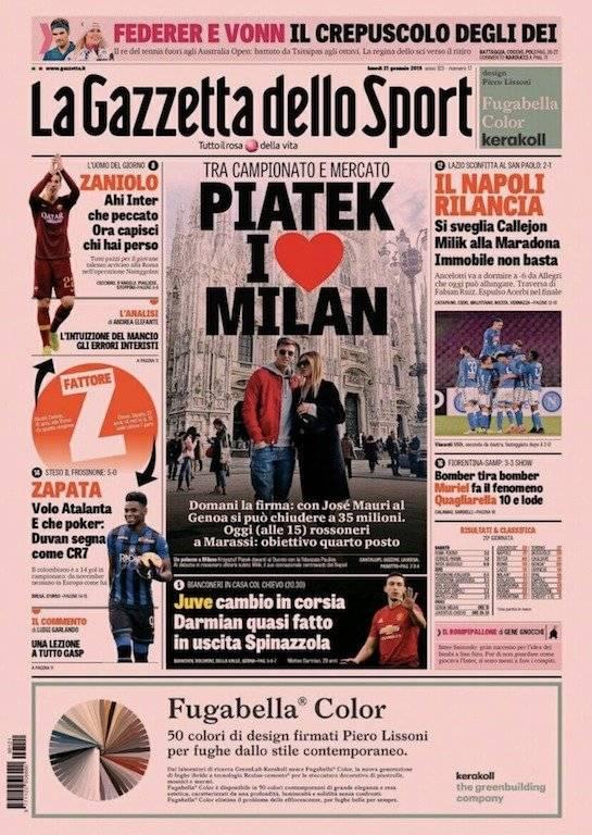 Gazzetta dello Sport sobre Zapata