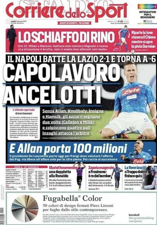 Corriere dello Sport sobre Zapata