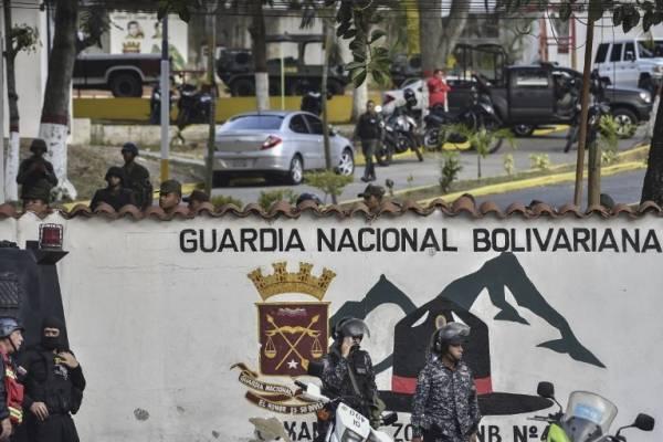 Militares sublevados en Venezuela