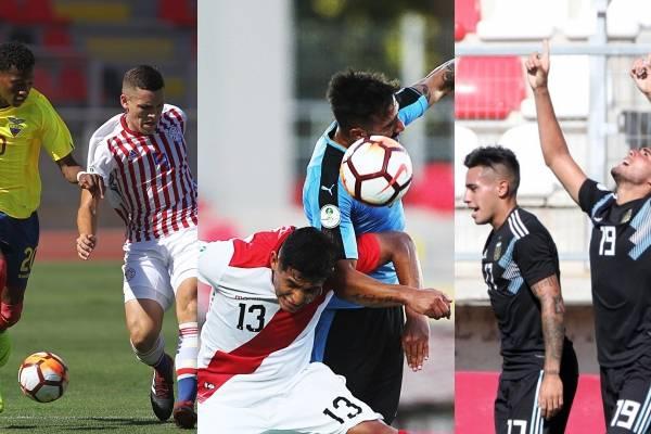 Tabla de posiciones del Grupo B Sudamericano Sub 20