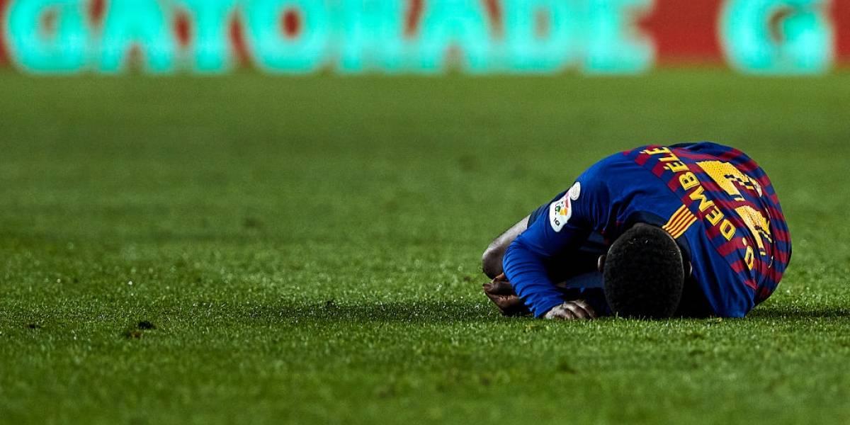 Ousmane Dembelé estará quince días de baja en Barcelona tras sufrir un esguince de tobillo