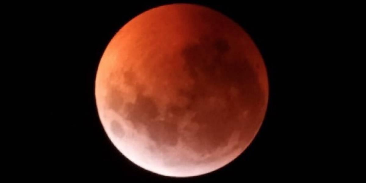 """Así se vio en la isla la """"Luna de Sangre"""""""
