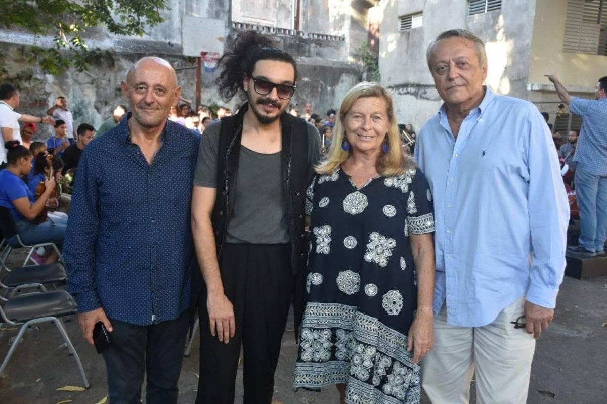 Dominique Mey, Nemanja Radulovic, Corinne Bouygues Gobbi y Frank B. Ferandier