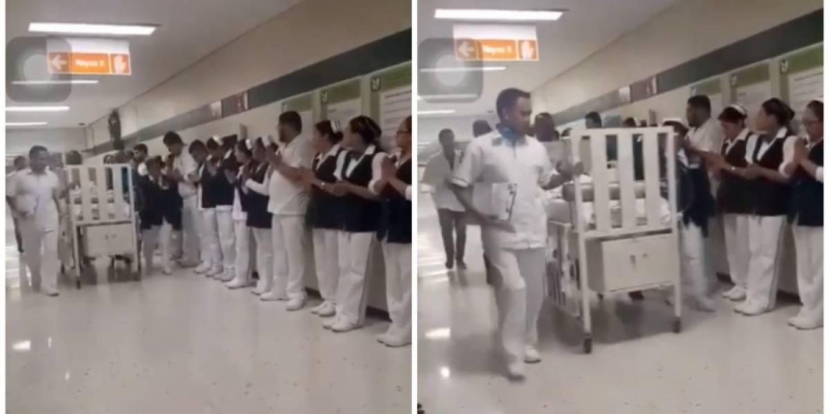 Médicos le hacen calle de honor a bebé que donó sus órganos a tres recién nacidos