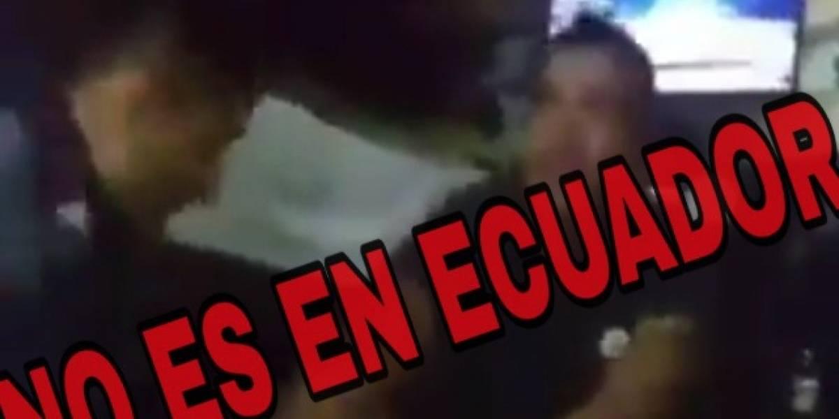 Policía Nacional se pronuncia ante video que circula en redes sociales sobre ataque a extranjero