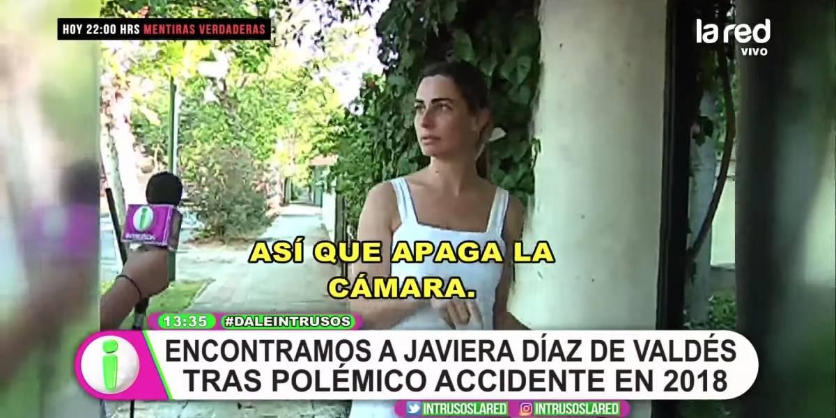"""""""Que te vayas y me dejes tranquila"""": El enojo de Javiera Díaz de Valdés con """"Intrusos"""" por ir a buscarla a su casa"""