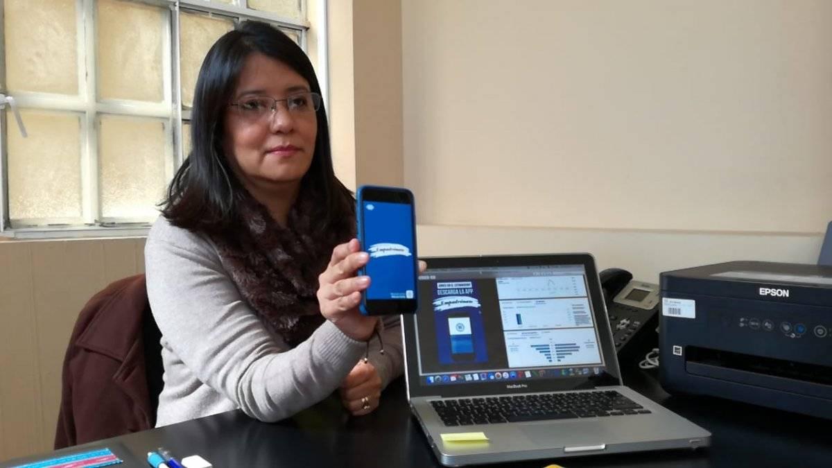 Claudia Rojas, voto en el extranjero TSE. Foto: Saira Ramos