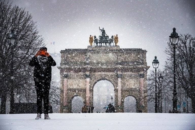 Tormenta invernal en Francia