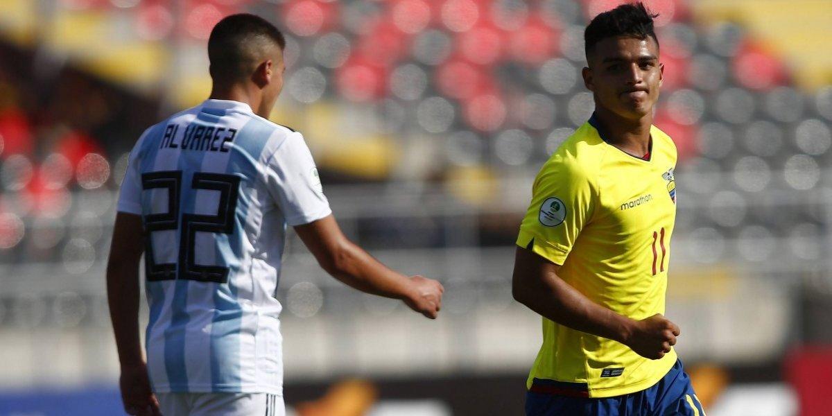 Argentina queda colgando del Sudamericano Sub 20 tras caer ante el sorprendente Ecuador