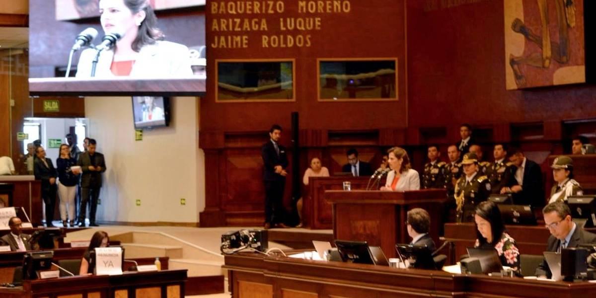 María Paula Romo habla sobre la reacción de la Policía Nacional en caso Diana y en Mascarilla