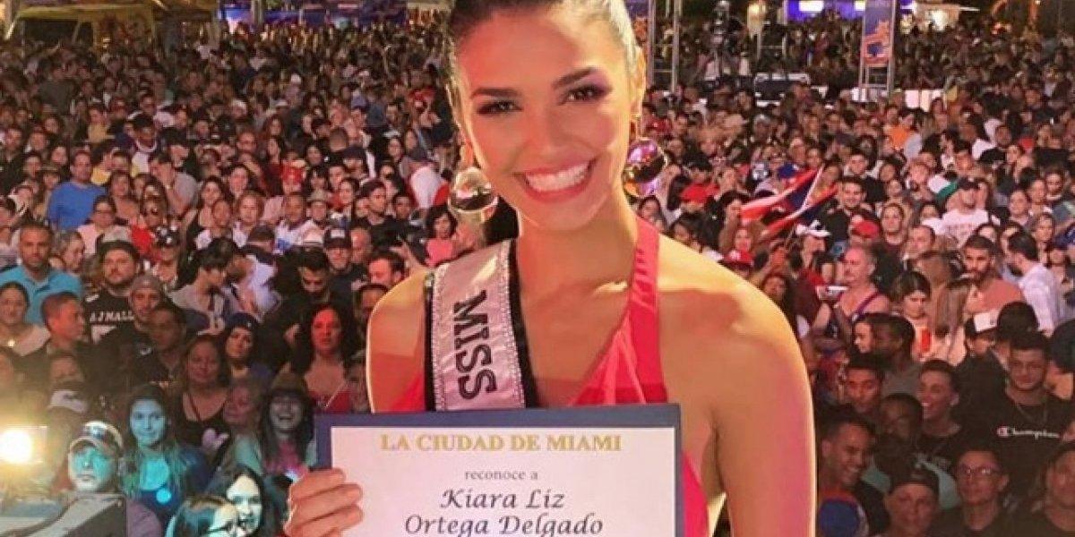 Reconocen en Miami a Kiara Liz Ortega