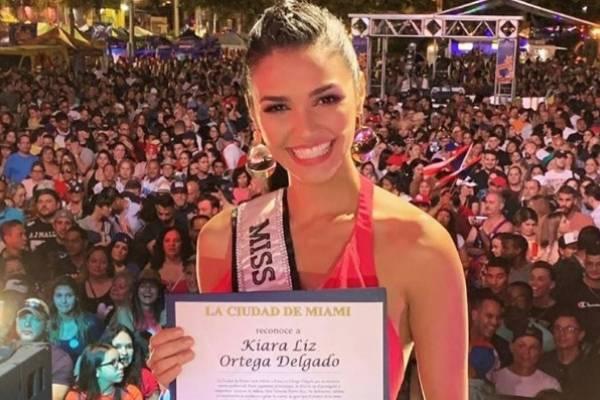 Reconocen en Miami a Kiara Liz Ortega, Miss Universe P. R. 2018