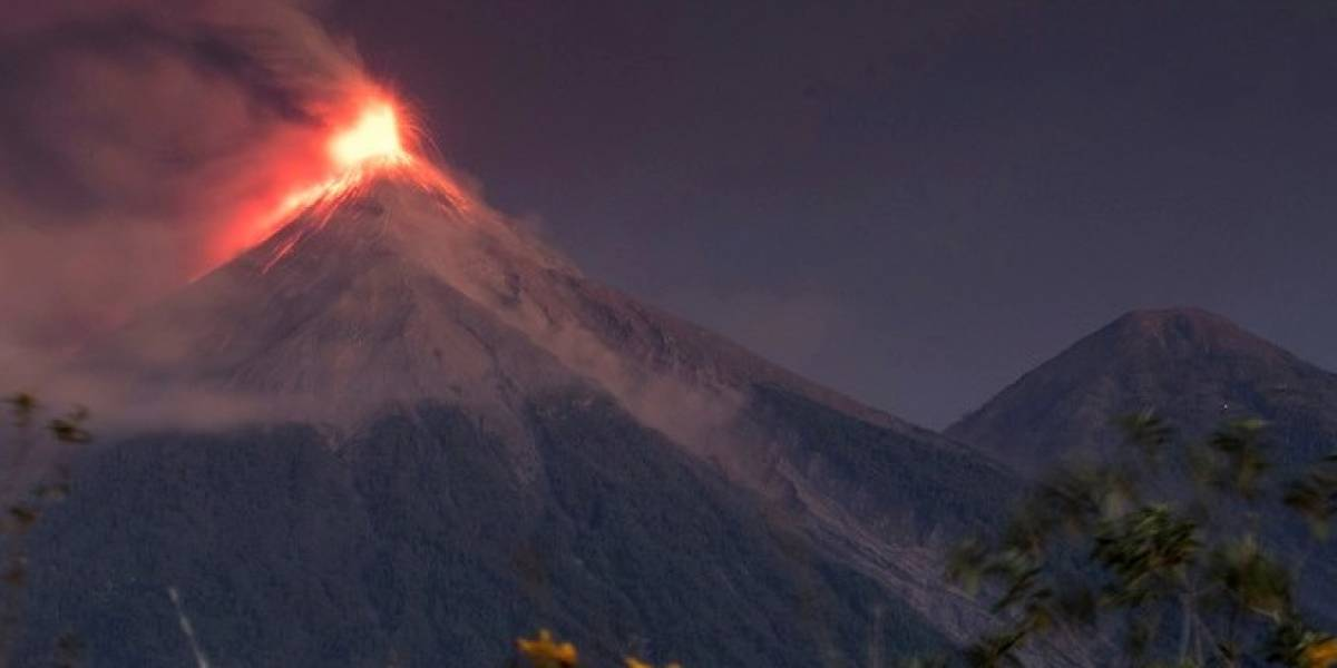 Volcano of Fire in Guatemala.