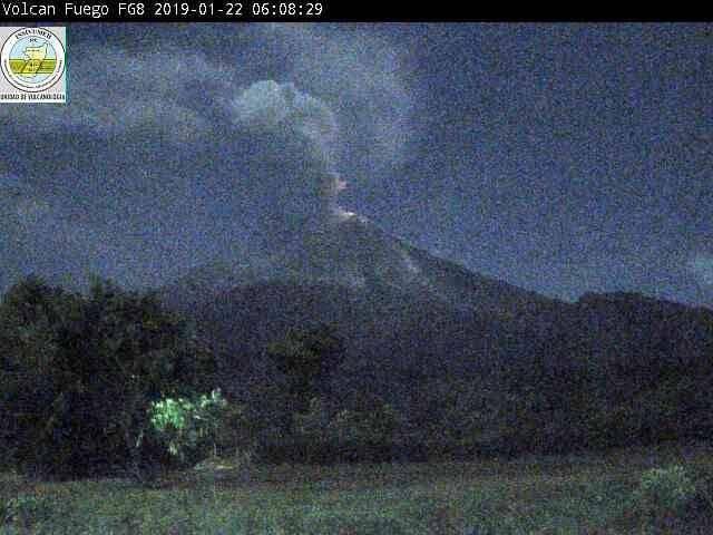 Volcán de Fuego. Foto: Insivumeh