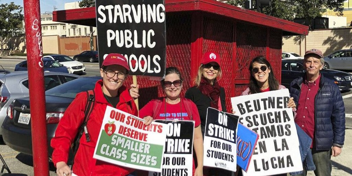 Maestros de Los Ángeles aprueban contrato y culminan la huelga