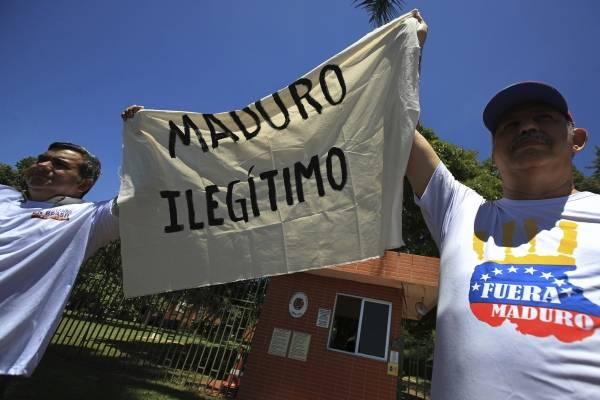 Maduro ilegítima. AP