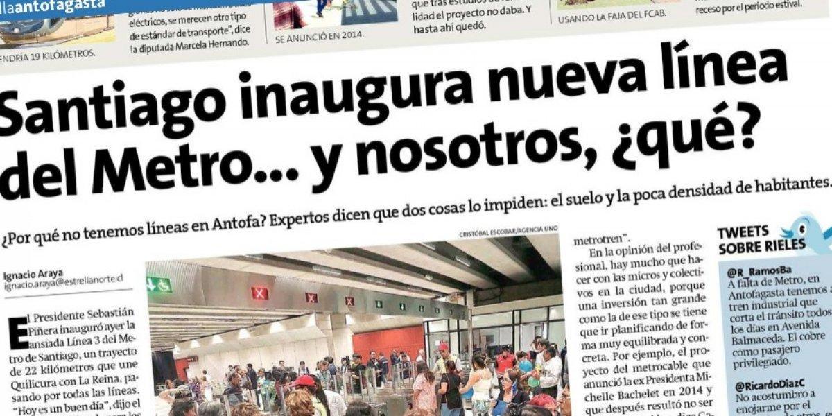 """""""¿Y nosotros qué?"""": El reclamo en regiones tras inauguración de Línea 3 y anuncio de crecimiento de Metro"""