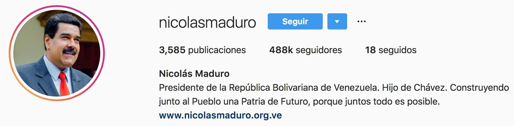Venezuela: Facebook e Instagram le quitaron la insignia de cuenta verificada a Nicolás Maduro