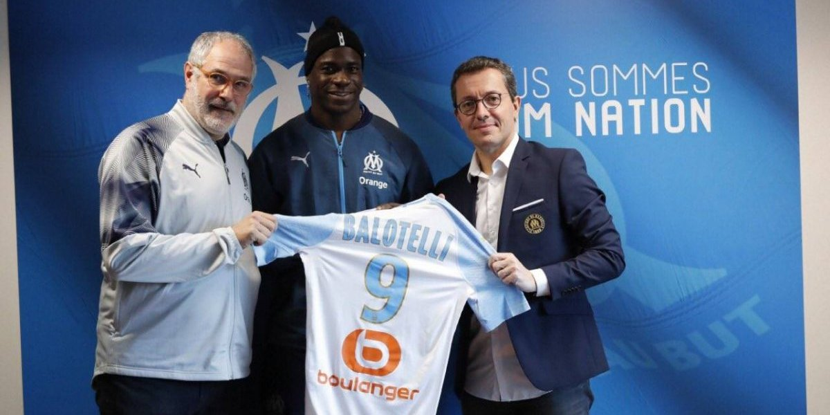 Olympique Marsella ocupó el ingenio para decirle al mundo que Mario Balotelli es su nuevo goleador
