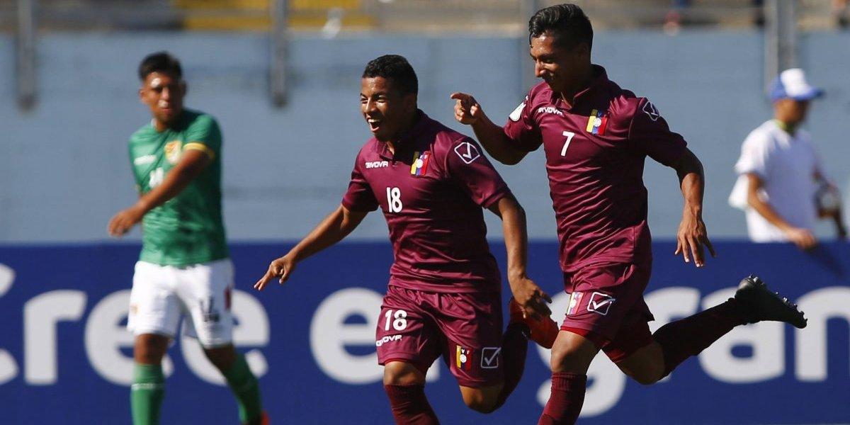 Una sólida Venezuela venció a Bolivia y clasificó al hexagonal final del Sudamericano Sub 20