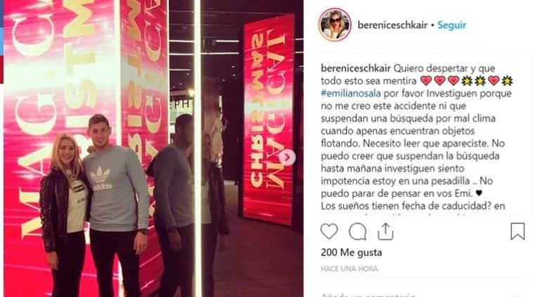 Mensaje de la novia de Emiliano sala en su Instagram