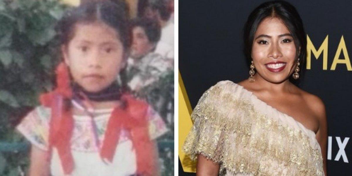 Se filtran imágenes de la conmovedora infancia de Yalitza Aparicio