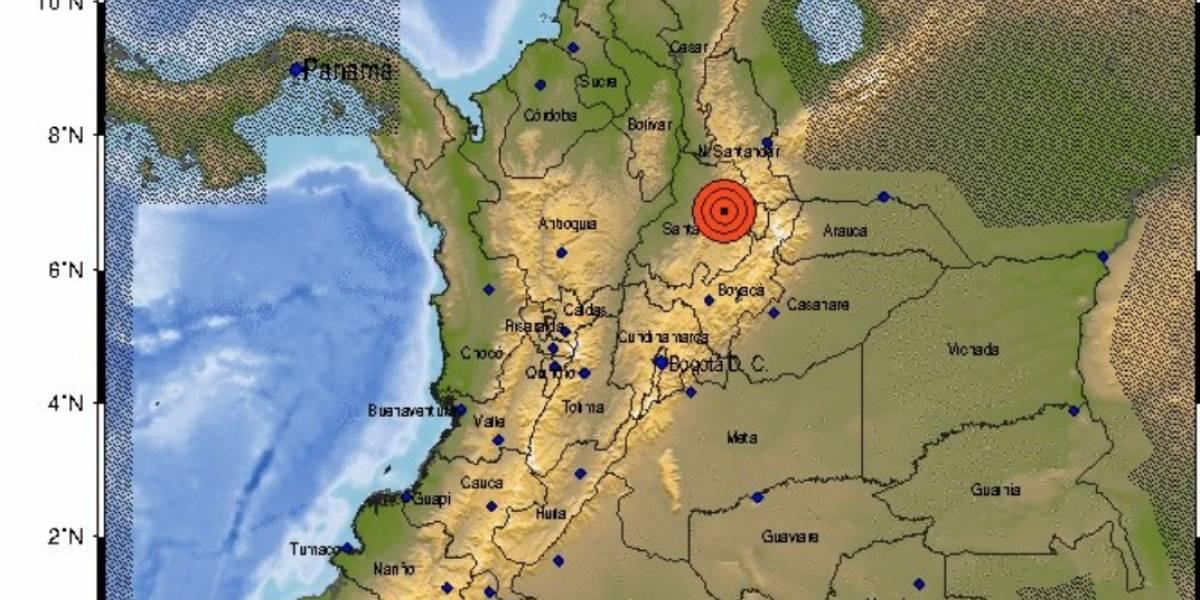 Temblor 5,4 se percibe en gran parte de Colombia