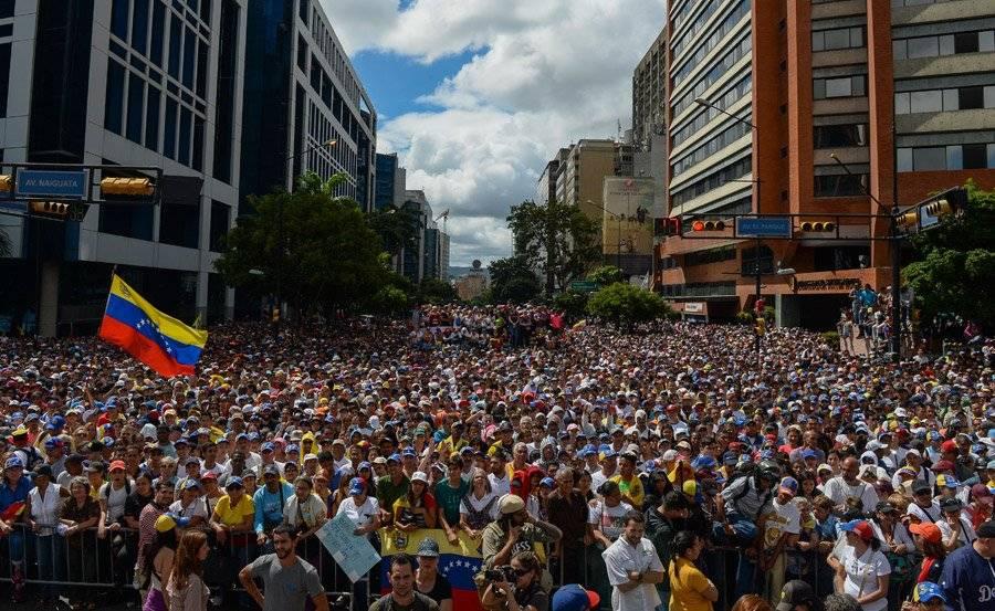 Masivas protestas en Venezuela