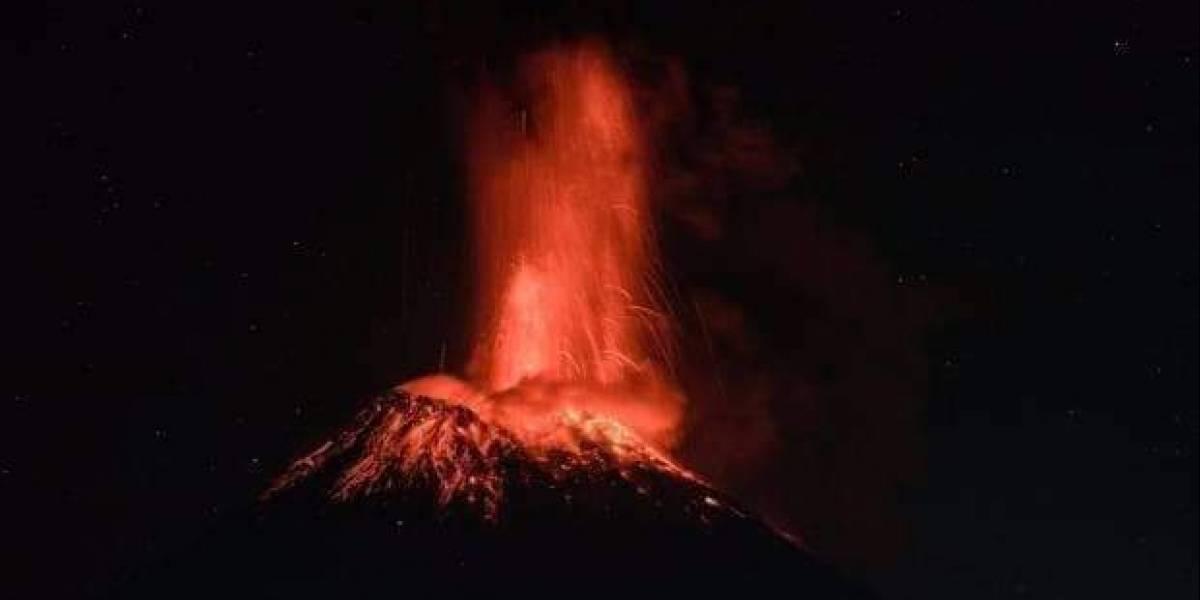 México: Se reporta fuerte explosión del volcán Popocatépetl