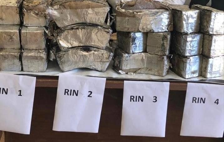 Paquetes encontrados por elementos de la FGR. Foto: FGR