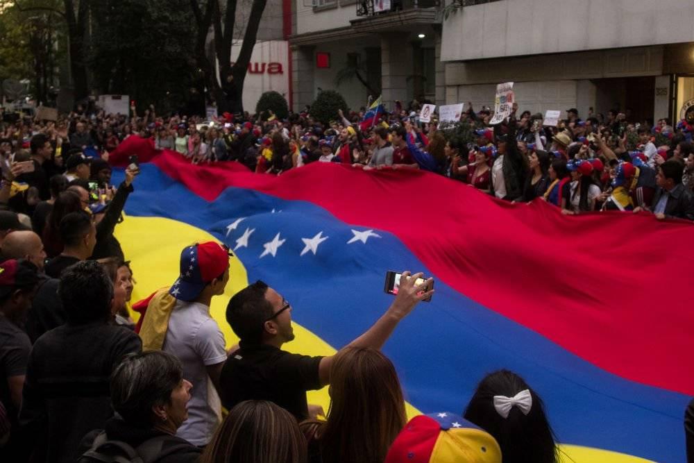 Manifestación contra Maduro en la CDMX Foto: Cuartoscuro