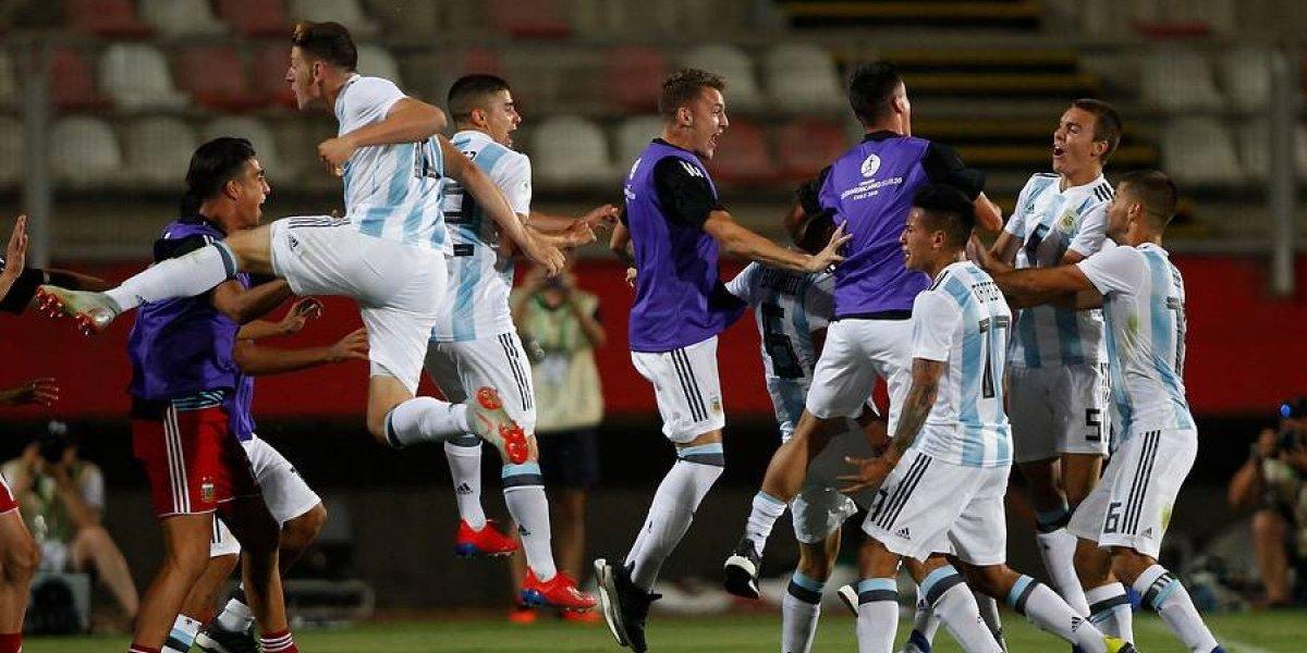 Argentina sigue con vida en el Sudamericano Sub 20 tras derrotar con lo justo a Uruguay