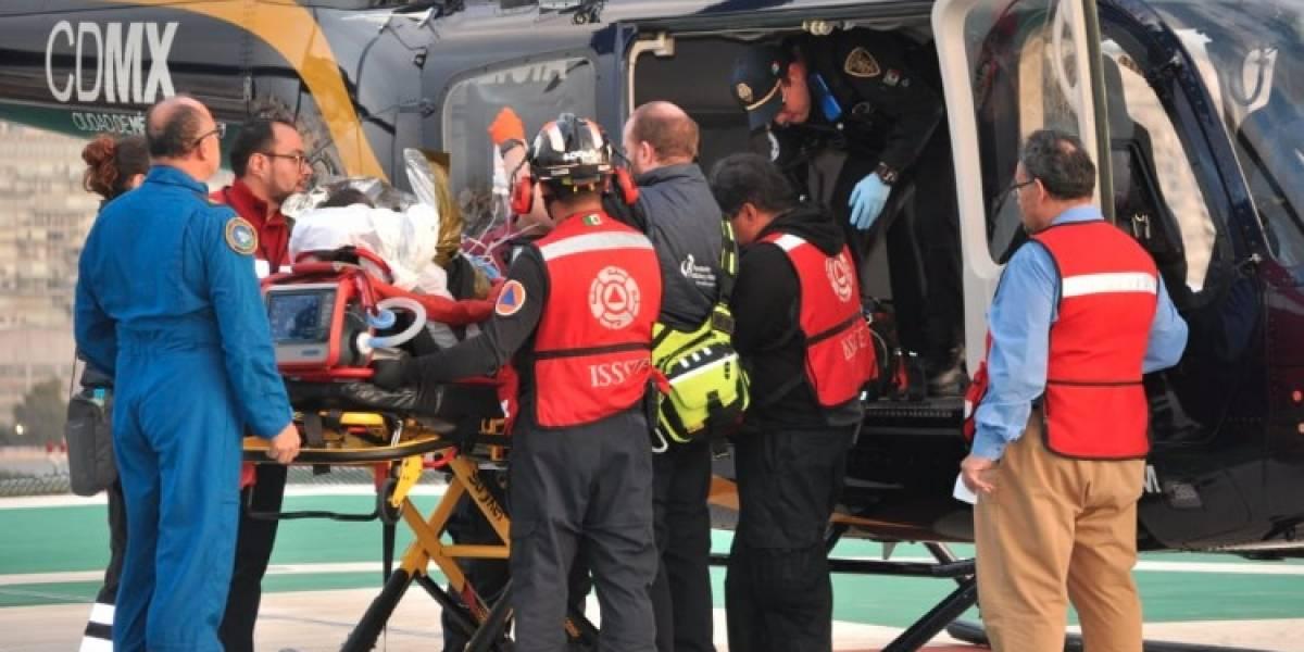 Trasladan a Galveston a otro menor lesionado por explosión en Tlahuelilpan