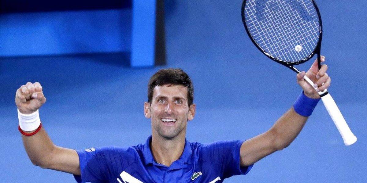 Novak Djokovic adelanta a la final del Abierto de Australia