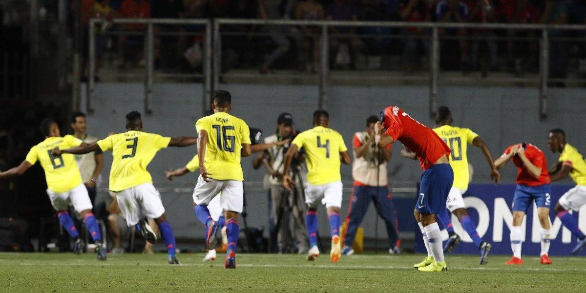 Terrible: Chile perdió en el último minuto ante Colombia y quedó eliminado del Sudamericano Sub 20