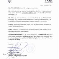 Galo Lara si podrá ser candidato por la prefectura de Los Rios