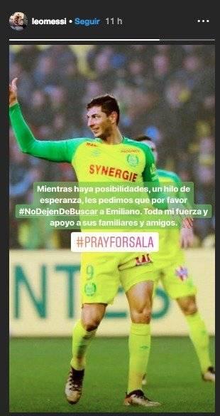 Messi sobre Emiliano Sala