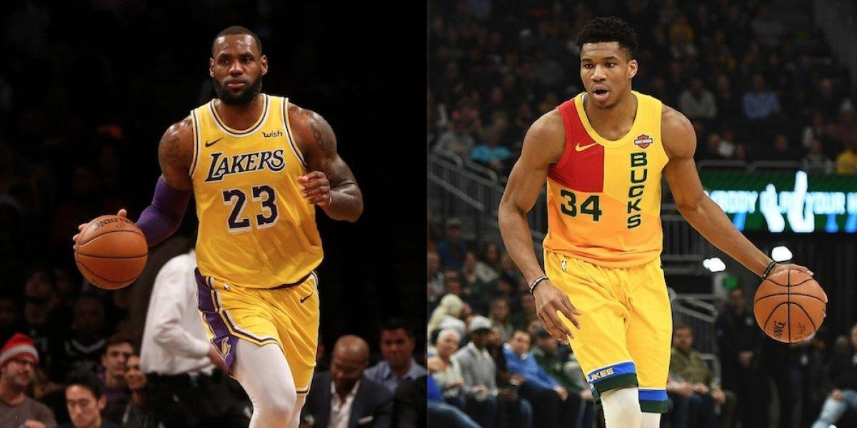 LeBron James y Antetokounmpo serán capitanes en Juego de Estrellas de la NBA